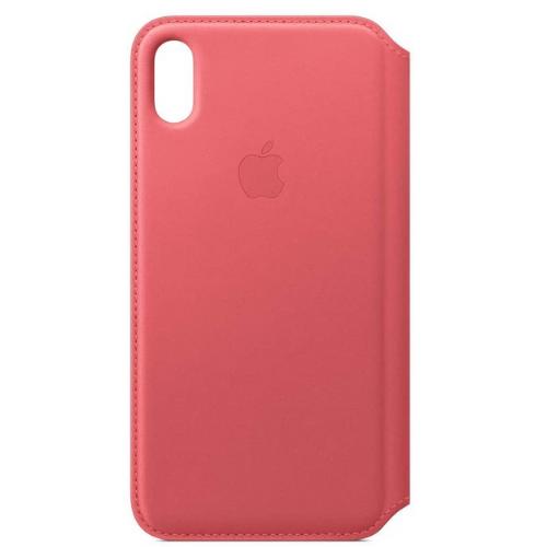 Apple Étui Folio en Cuir (pour iPhone XS Max) - Rose Pivoine